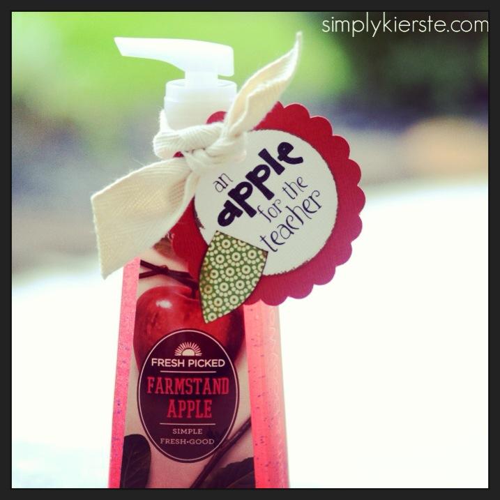 apple handsoap teacher gift | oldsaltfarm.com