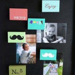 diy stenciled magnet blocks | simplykierste.com