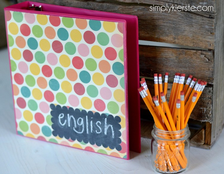 chalkboard binder labels | oldsaltfarm.com