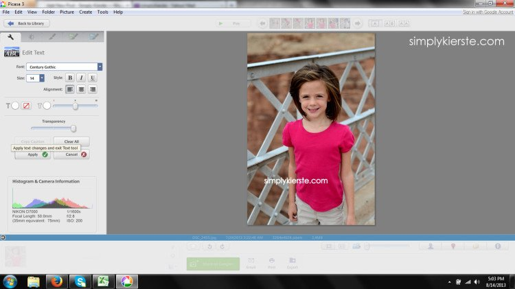 watermark your photos | simplykierste.com