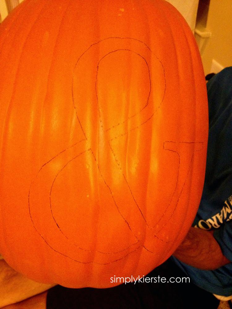 how to carve a foam pumpkin | oldsaltfarm.com