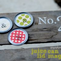 {juice can lid magnets}