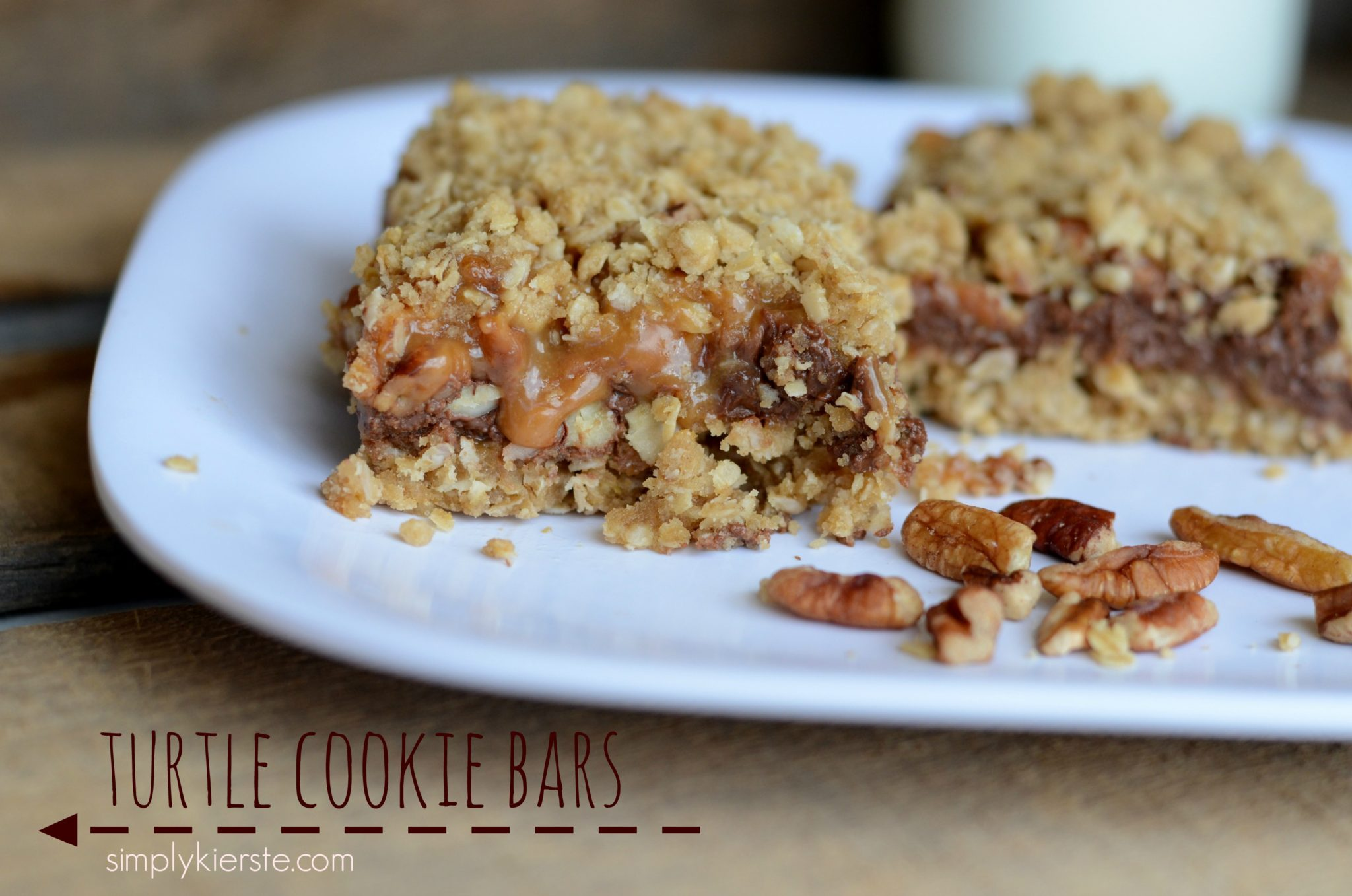 {insanely good turtle cookie bars}