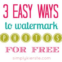 How to watermark your photos for free: three easy & free tutorials for both picasa and picmonkey}