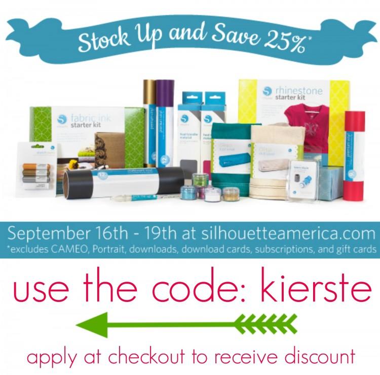25 sale silhouette | simplykierste.com