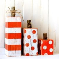 Striped & Polka Dot 4×4 Wood Pumpkins