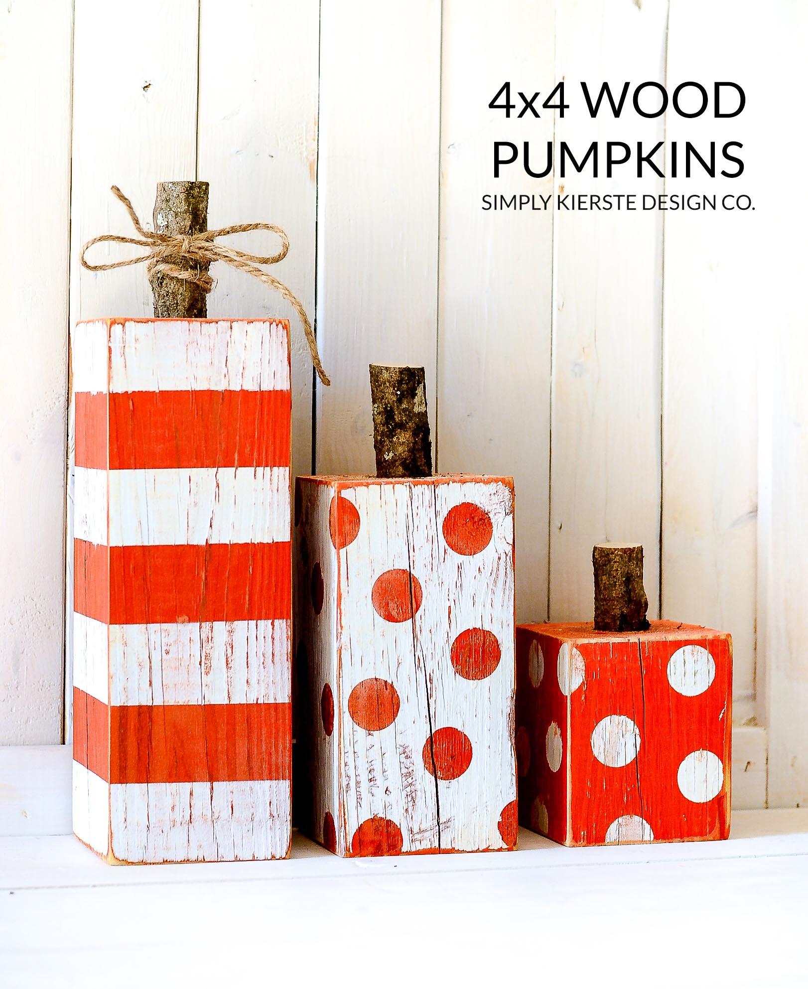 4x4 Wood Pumpkins | simplykierste.com
