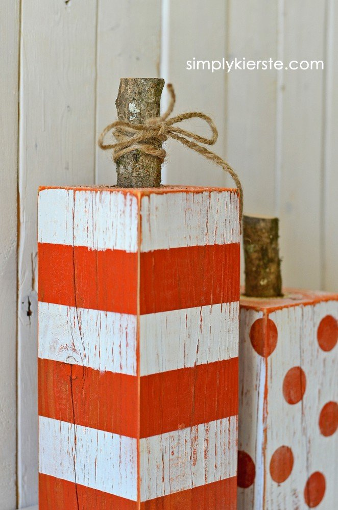 4x4 striped and polka dot pumpkins | simplykierste.com