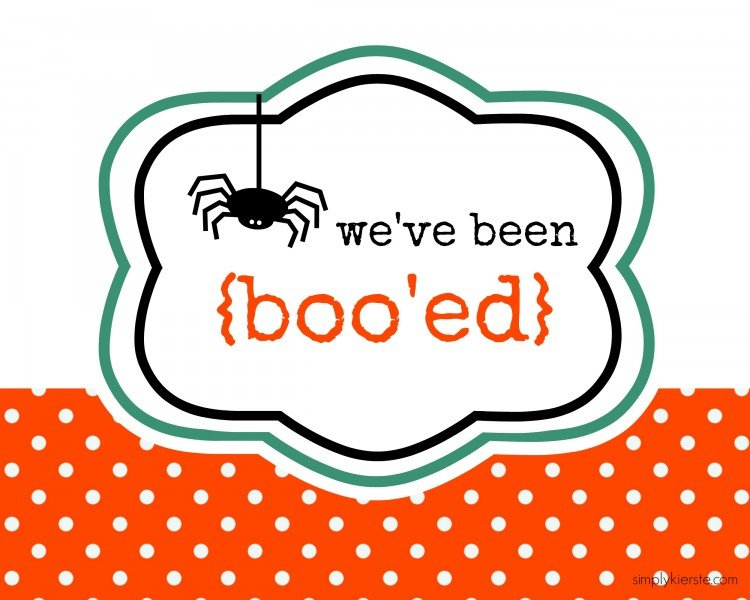 you've been boo'ed | simplykierste.com