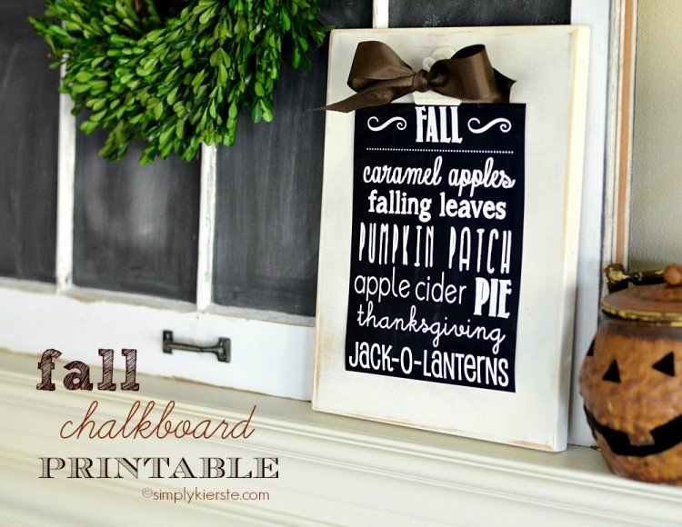 fall chalkboard printable   simplykierste.com