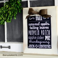 Fall Chalkboard Printable