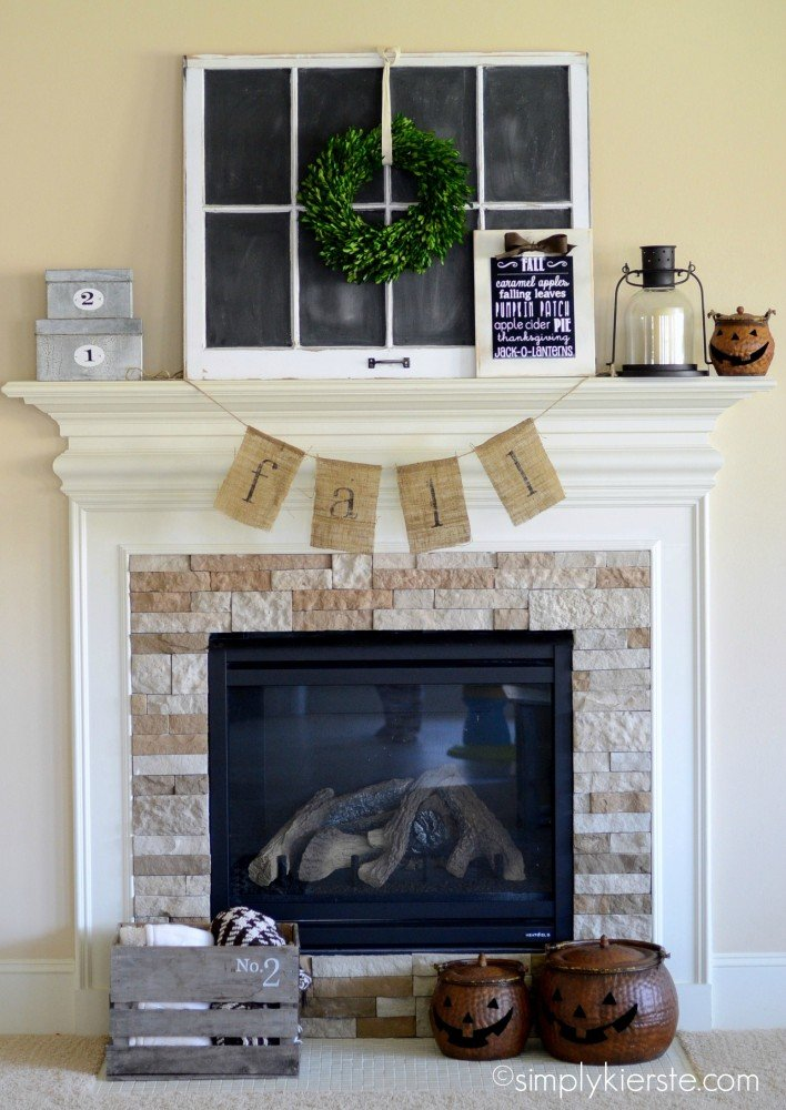 simple fall burlap bunting | simplykierste.com
