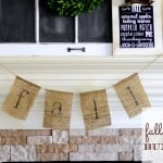 Simple Fall Burlap Bunting