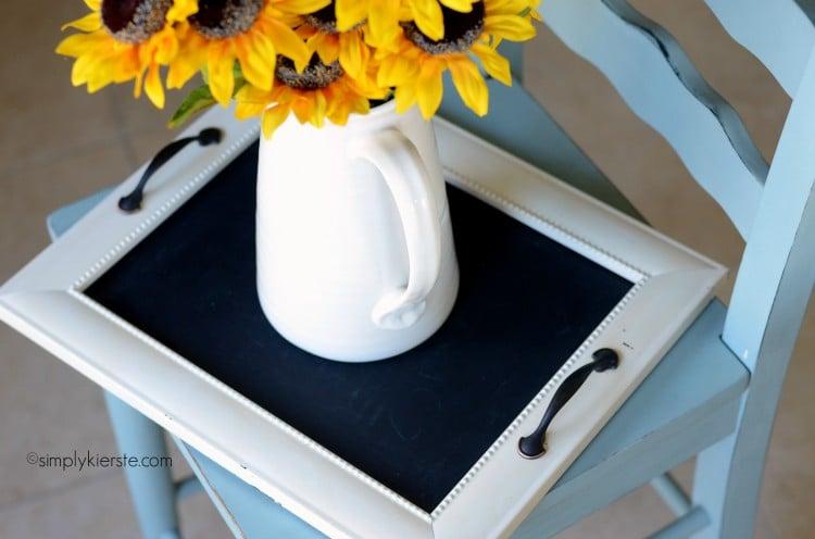 turn a frame into a tray   simplykierste.com
