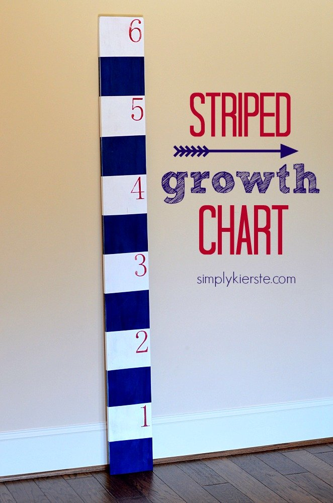 Striped growth chart