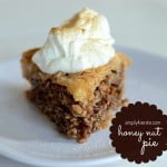 {honey nut pie}