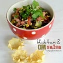 black baen & corn salsa