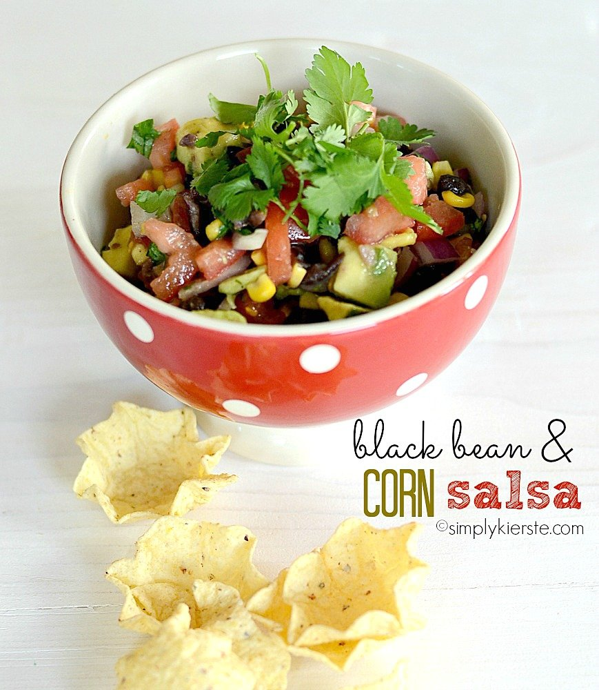 Black Bean & Corn Salsa | simplykierste.com
