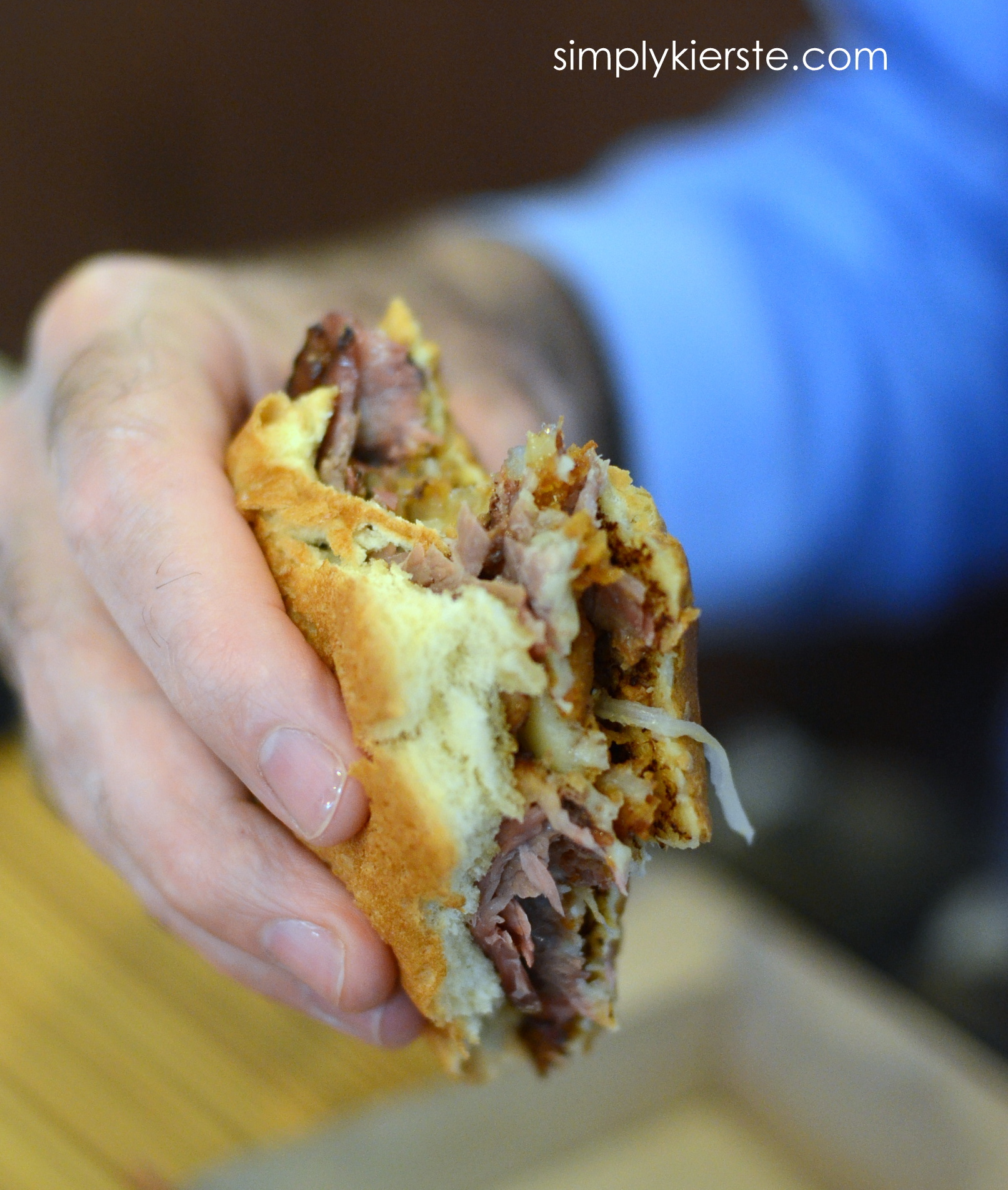 {lunch date at arby's…smokehouse brisket sandwich}