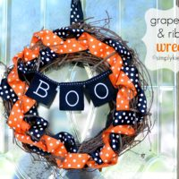 Halloween Grapevine & Ribbon Wreath