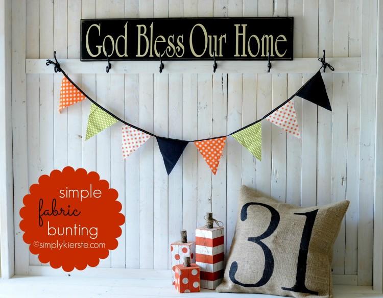 fabric bunting | simplykierste.com