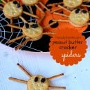 peanut butter cracker spiders | simplykierste.com