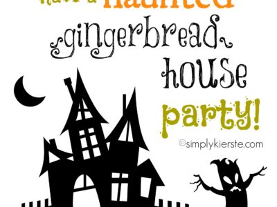 haunted gingerbread house party | simplykierste.com