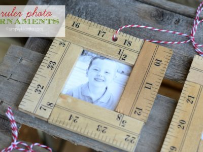 ruler photo ornaments | simplykierste.com