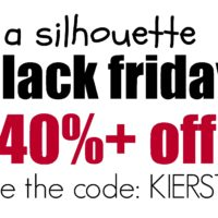 {a silhouette BLACK FRIDAY sale…the BIGGEST ever!!!}