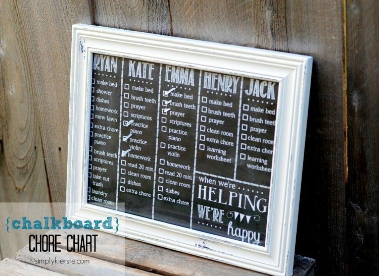 chalkboard chore chart | simplykierste.com
