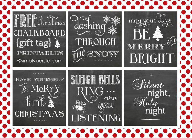 Chalkboard Gift Tags | simplykierste.com