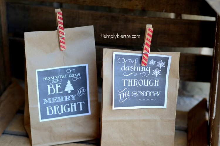 christmas chalkboard gift tags | simplykierste.com