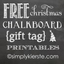 christmas chalkboard gift tag printables | simplykierste.com