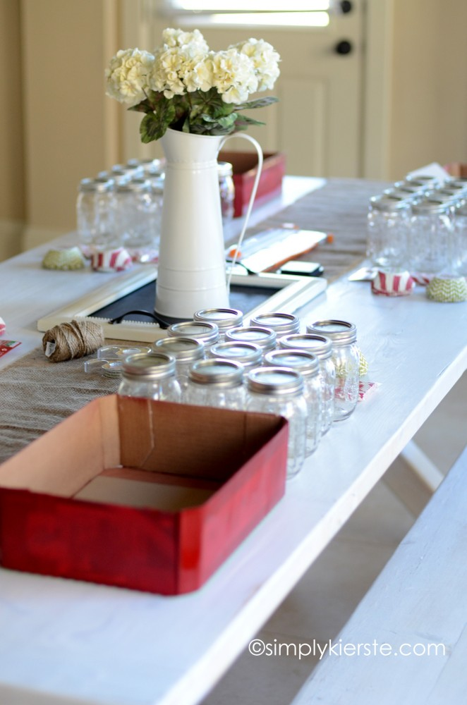 christmas mason jar dift set | simplykierste.com