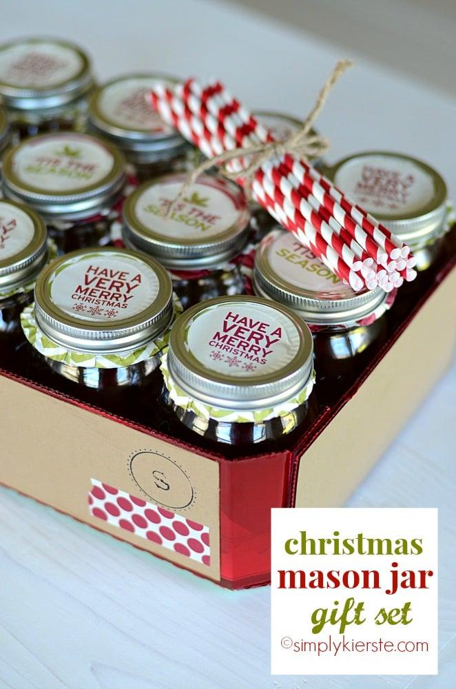 Christmas mason jar gift set simplykierste