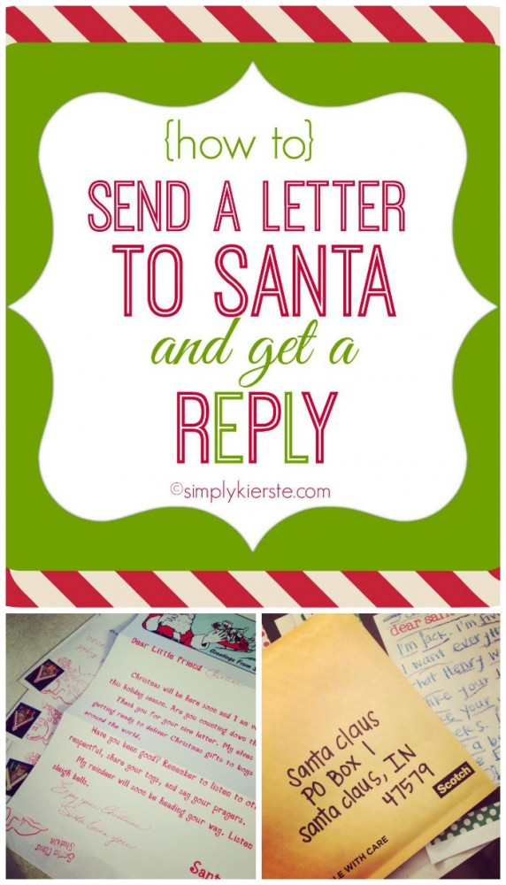 How to send a letter to Santa AND get a reply! | simplykierste.com