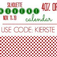 {silhouette advent calendar promo!!}