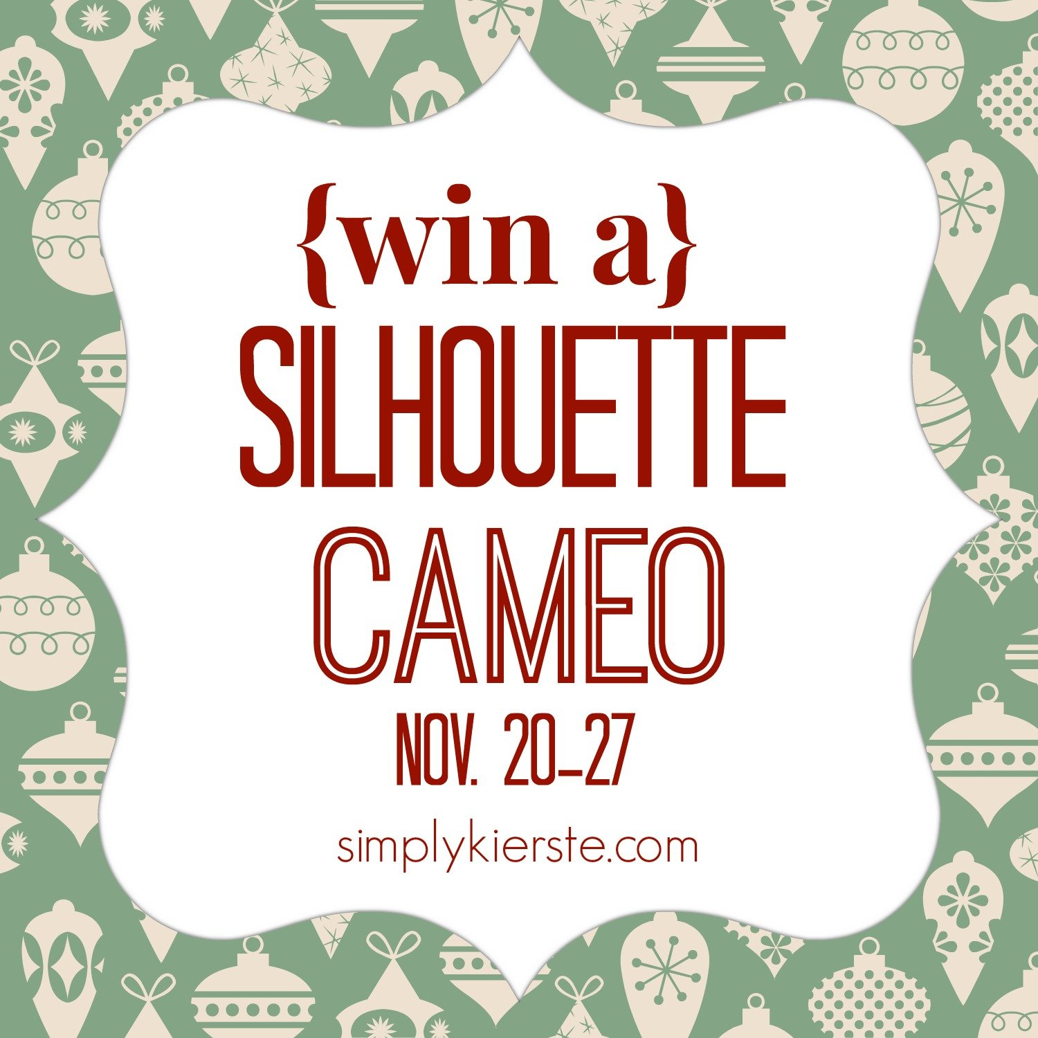 {silhouette cameo GIVEAWAY}