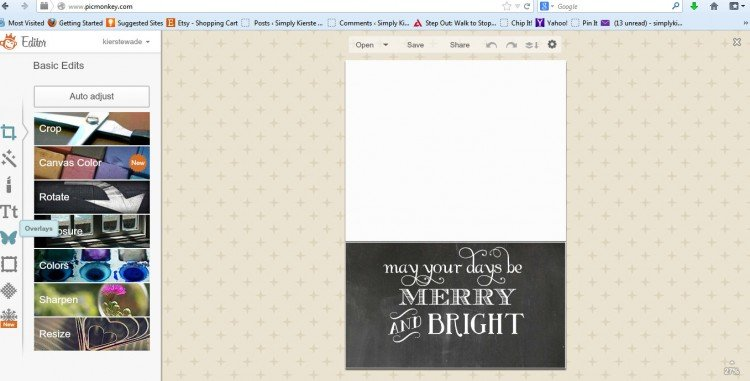 christmas card template | oldsaltfarm.com