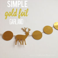 Simple Gold Foil Garland & Gift Tags