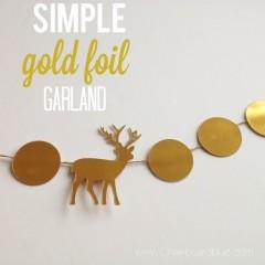 foil garland | simplykierste.com