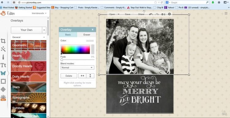 christmas card template | simplykierste.com