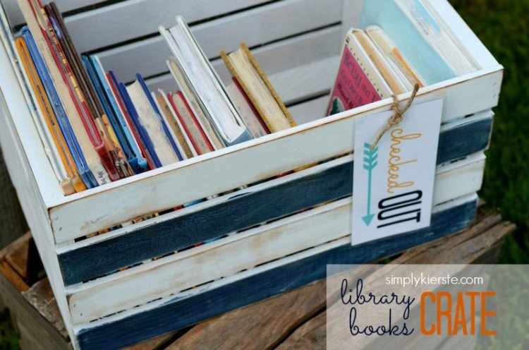 Library Books Crate | simplykierste.com