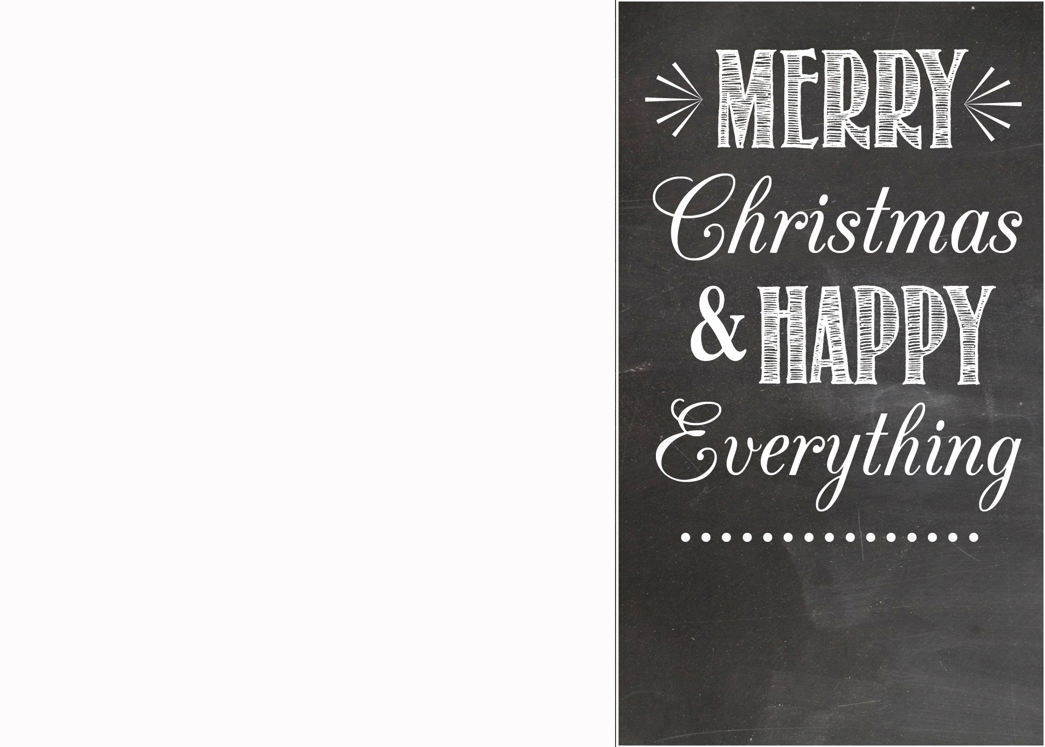 FREE Chalkboard Christmas Card Templates – Holiday Card Template