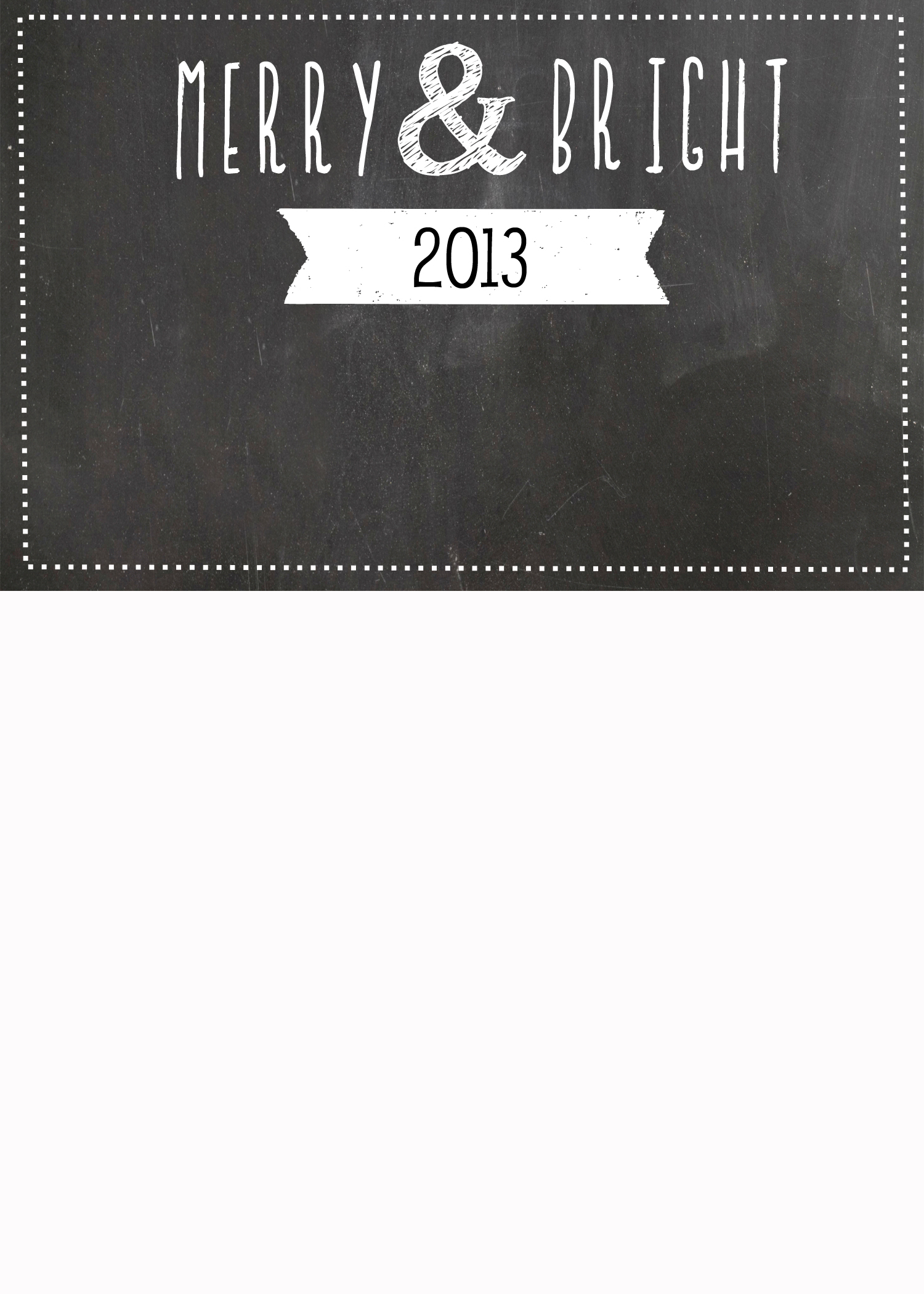 FREE Chalkboard Christmas Card Templates | simplykierste.com