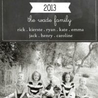 FREE Chalkboard Christmas Card Templates…NO Photoshop Required!