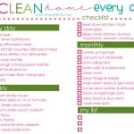 How to Have a Clean Home EVERY Day + Free Printable Checklist