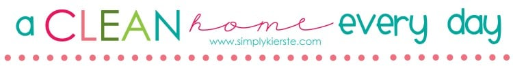 a clean house every day | simplykierste.com