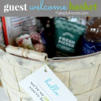Guest Welcome Basket: FREE printable included!