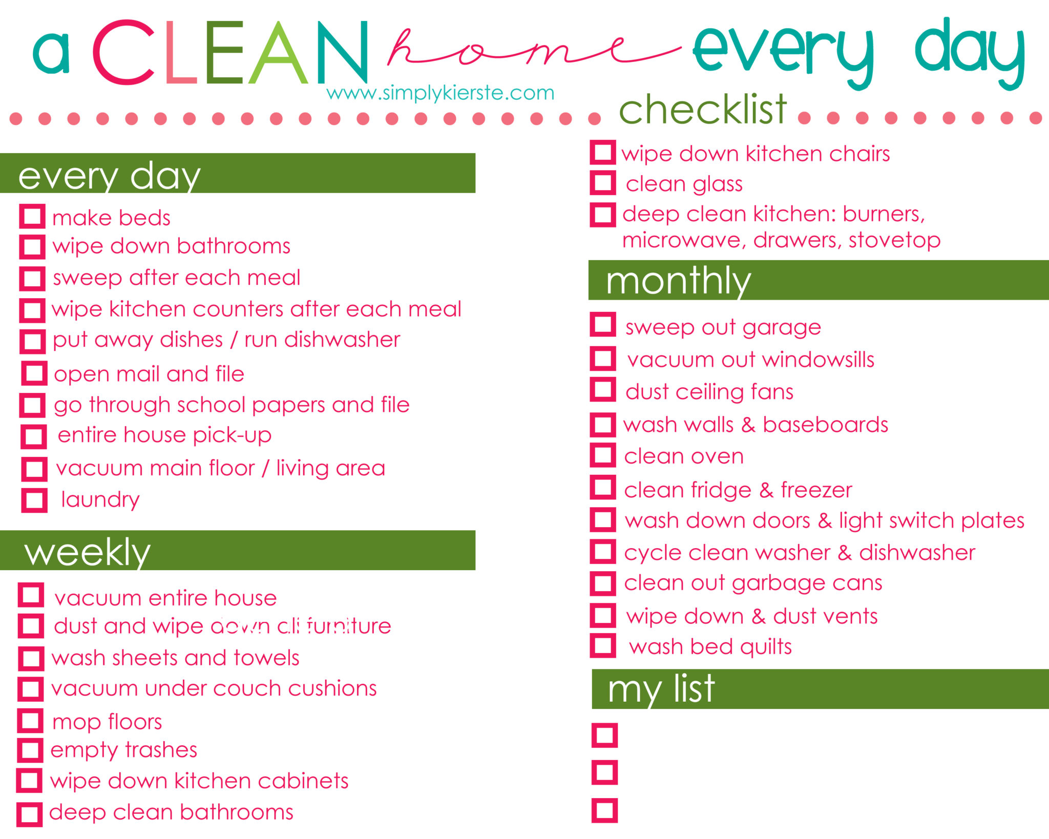 how to have a clean home every day | simplykierste.com #cleaningtips #cleaningschedule #cleaningideas #cleaningmethod